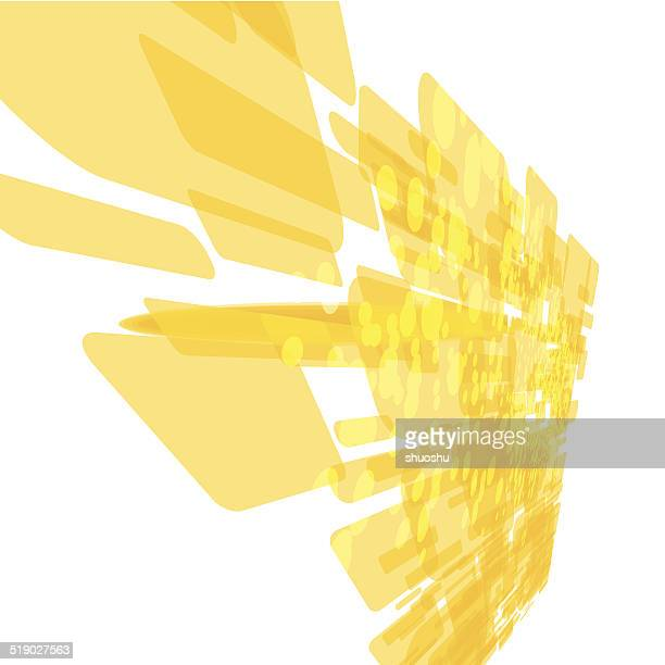 abstract yellow technology pattern background