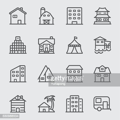 Accommodation line icon : stock vector