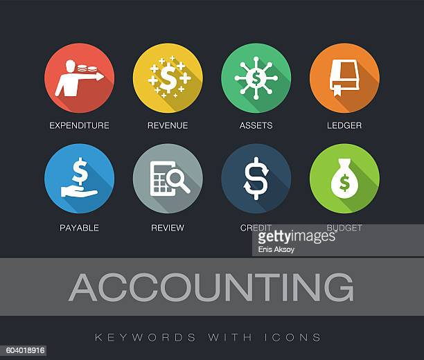 Accounting keywords with icons