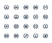 Achievements vector icon set