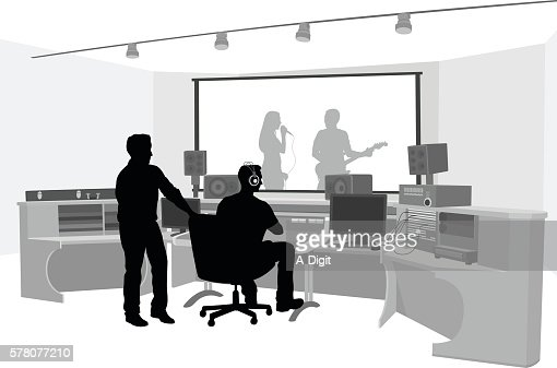 studio music producer production vector clip illustrations acoustic illustration graphic graphics vectors icons cartoons