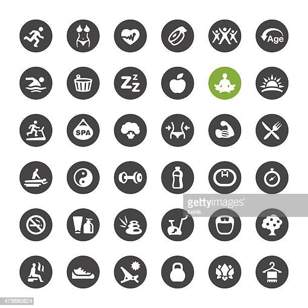 SPA, Activity and Healthy Lifestyle vector icons