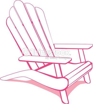 Adirondack Beach Chair Vector Art   Thinkstock
