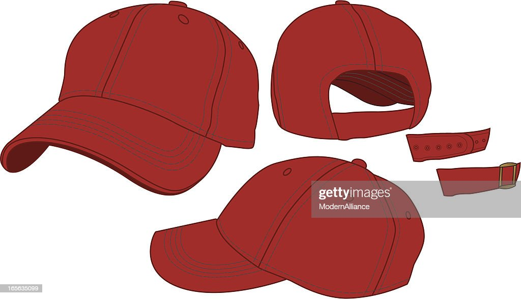 adjustable baseball hat template vector getty images