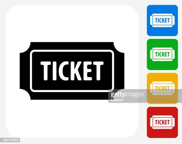 Admission Ticket Icon Flat Graphic Design