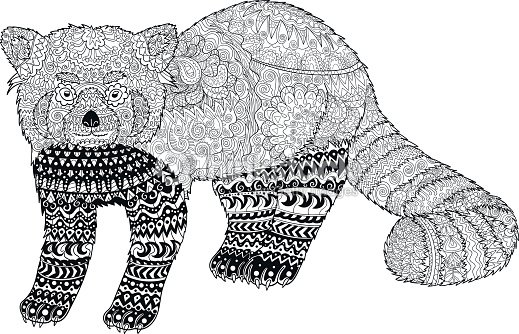 Adult Coloring Page For Anti Stress Art Therapy stock vector ...