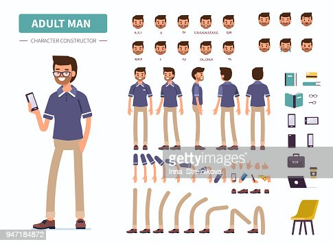 adult man : stock vector