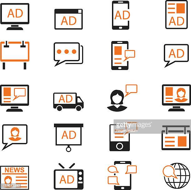 Advertisement icons set