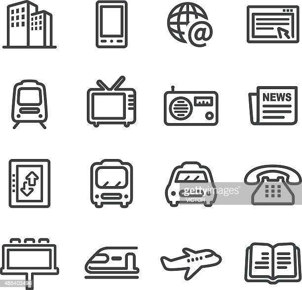 Advertising and Media Icons - Line Series