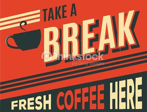 advertising coffee retro poster : stock vector