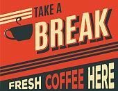 advertising coffee retro poster, vector format