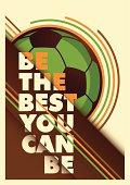 Advertising football poster design. Vector illustration.
