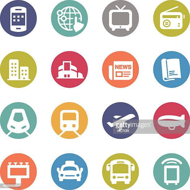 Advertising Media Icons - Circle Series