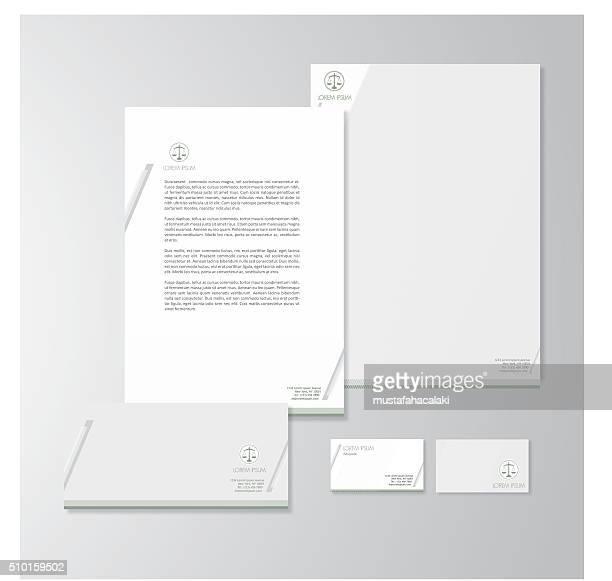 Favor de diseño de papelería