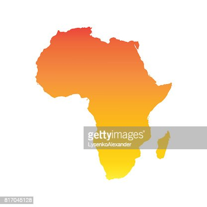Africa map. Colorful orange vector illustration : stock vector