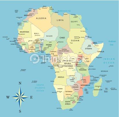 oceans in africa map