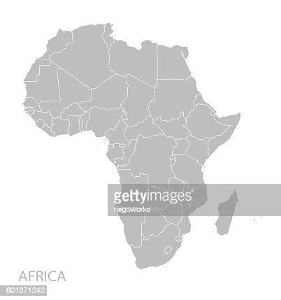 Africa map : stock vector