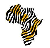 Africa map vector illustration