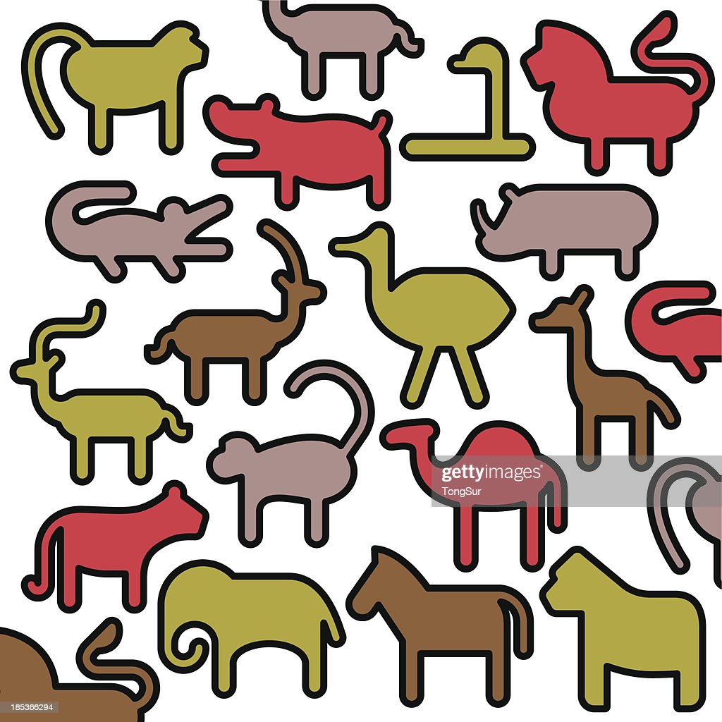 african animals color series vector art getty images