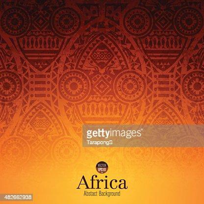 African art background design. : stock vector