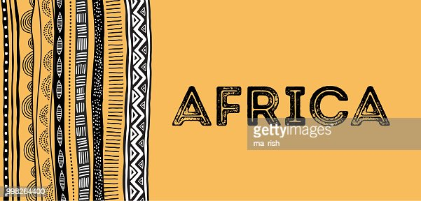 African background, flyer with tribal traditional grunge pattern : stock vector