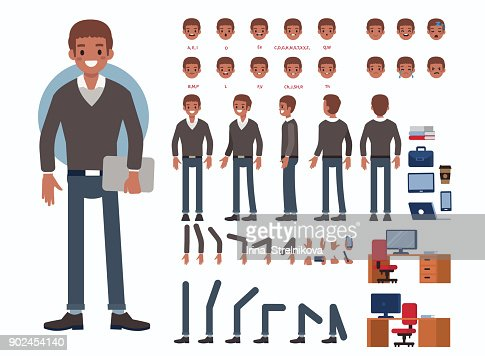 african business man : Vector Art