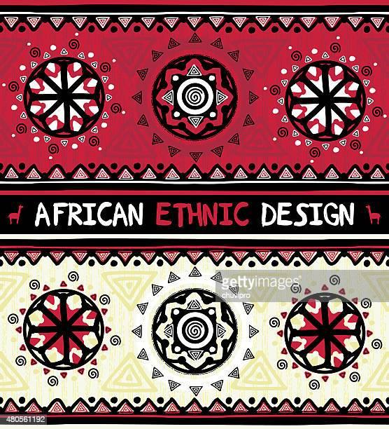 Afrikanische ethnische design mit abstrakten geometrischen ornament
