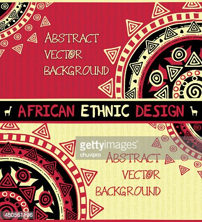 African ethnic  design with abstract geometric ornament : Vector Art