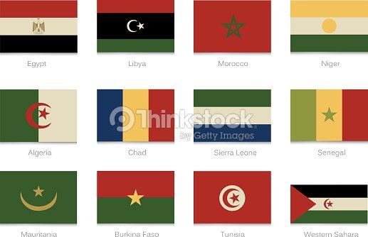 Bandiere africane con colori vintage parte 1 arte - Bandiere bianche a colori ...