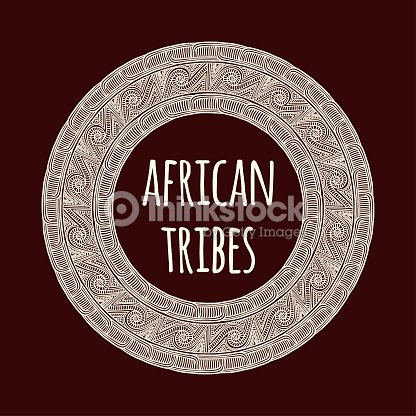 african pattern frame vector template tribal maori art and