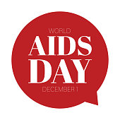 Aids day label sign bubble vector
