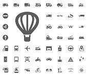 Air balloon icon. Aerostat icon. Transport and Logistics set icons. Transportation set icons.