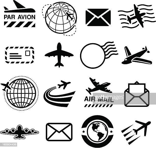 Air Mail - Black Icons