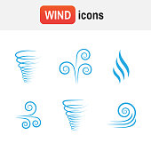 air wave vector. Illustration vector of wind icon collection