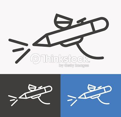 Airbrush Or Spray Gun Vector Vector Art | Thinkstock