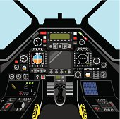 airplane cockpit vector