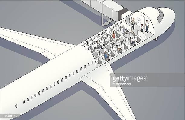 Airplane Cutaway Illustration