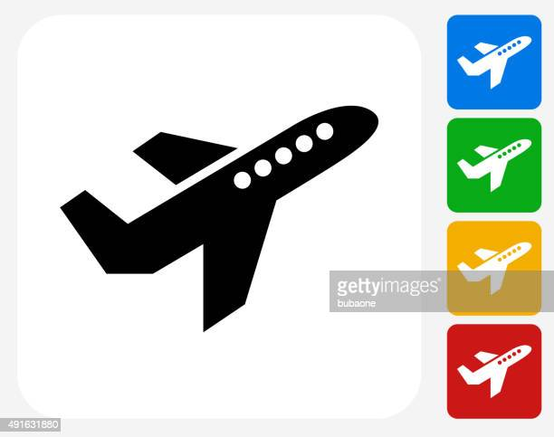 Airplane Icon Flat Graphic Design