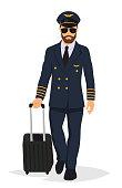 Airplane pilot captain