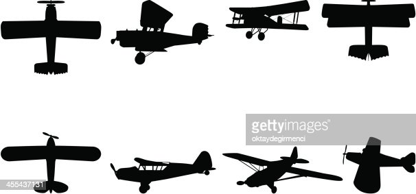 Airplane Silhouette Vectorkunst | Getty Images