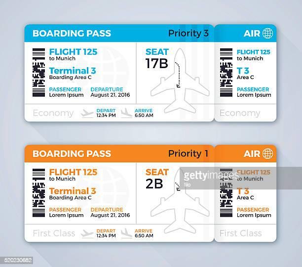 Flugtickets von Bordkarten