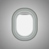Aircraft, airplane windows. Vector illustration