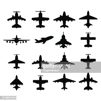 Airplanes icon set : Vector Art