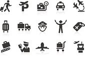 Simple airport related vector icons for your design and application. Files included: vector EPS, JPG, PNG.