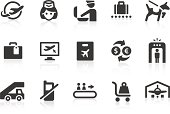 Simple air travelling related vector icons for your design and application. Files included: vector EPS, JPG, PNG.