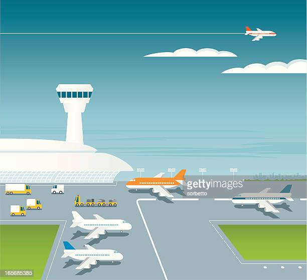 Air Traffic Control Tower Stock Illustrations And Cartoons
