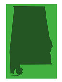 vector illustration of Alabama map