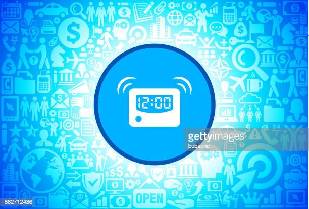 Alarm Clock Icon on Business and Finance Vector Background