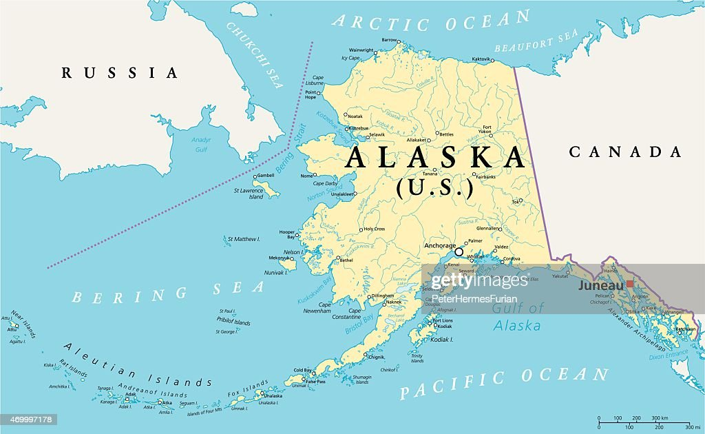 Alaska Political Map Vector Art Thinkstock