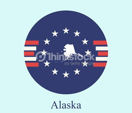 Alaska State Of Usa Map Vector Outline On Abstract Background Of ...